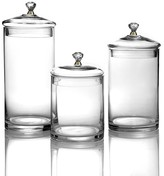 Jay Import Gold Knob Glass Canisters - Set of 3