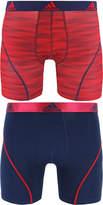 adidas Men's 2-Pk. Sport Performance ClimaLiteandreg; Graphic Boxer Briefs