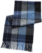 Black Brown 1826 Plaid Cashmere Scarf