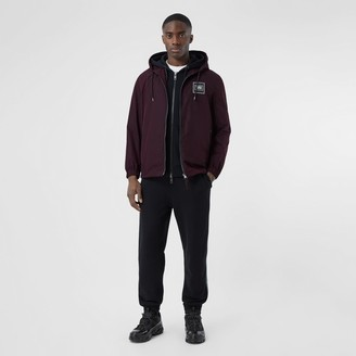 Burberry Logo Applique Shape-eory Taffeta Hooded Jacket