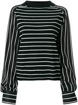 Haider Ackermann long sleeved stripe jumper