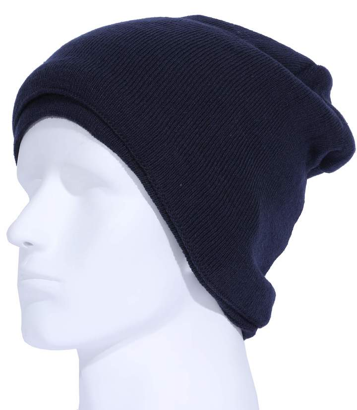 8b039bea751f Outrip Mens Fleece Lined Beanie Hat Winter Solid Color Warm Knit Ski Skull  Cap