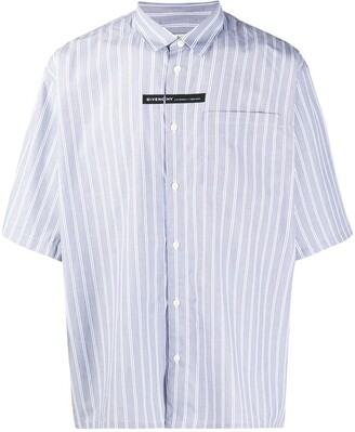 Givenchy Vertical-Stripe Short-Sleeve Shirt