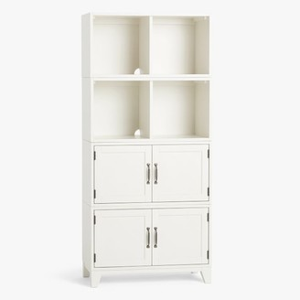 Pottery Barn Teen Hampton 2-Shelf Cabinet Storage Tall Bookcase