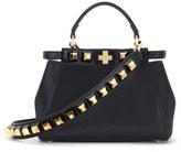 Fendi Mini Peekaboo Studded Leather Bag - Black