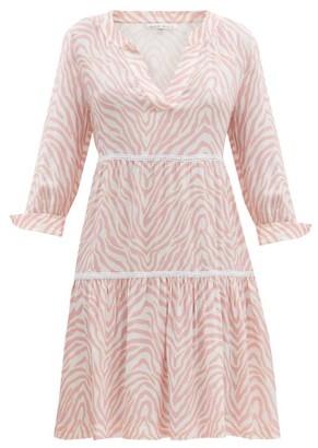 Heidi Klein Zebra-print Crepe Dress - Pink Print