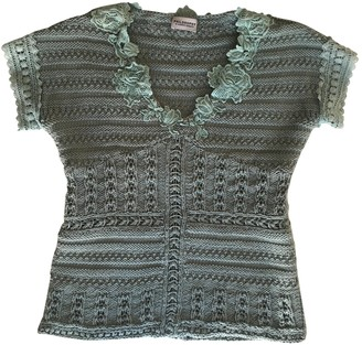 Philosophy di Alberta Ferretti Green Cotton Knitwear for Women