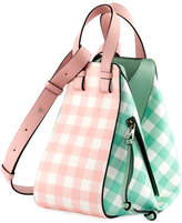 Loewe Hammock Gingham Leather Shoulder Bag