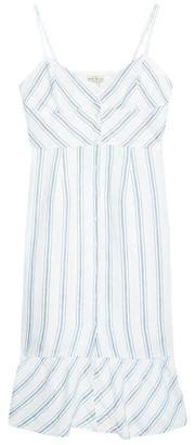 Jack Wills Fernheath Button Stripe Midi Dress