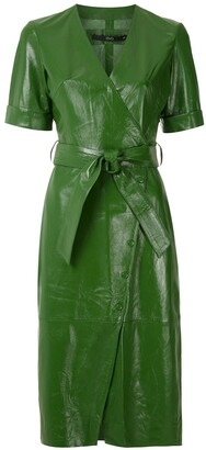 Eva Leather Wrap Dress