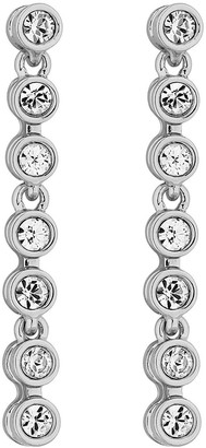 Jon Richard Silver Plated Tennis Crystal Drop Earring Made With Swarovski Crystals