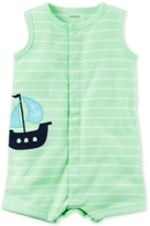 Carter's Striped Boat Romper, Baby Boys (0-24 Months)