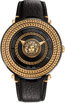 Versace Men's Swiss V-Metal Icon Black Leather Strap Watch 46mm VQL030015