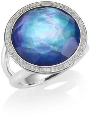 Ippolita Lollipop Medium Sterling Silver, Triplet & Diamond Ring