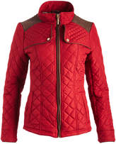 Weatherproof True Red Shoulder-Patch Quilted Jacket - Plus Too