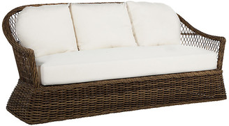Soho Outdoor Sofa - Raffia - SUMMER CLASSICS INC - frame, raffia; upholstery, white