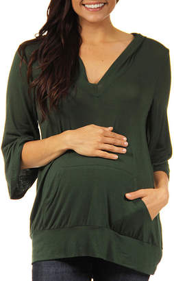 24/7 Comfort Apparel Maternity Womens Knit Blouse