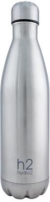 Hydro2 Quench Double Wall Stainless Steel Water Bottle 750ml Silver