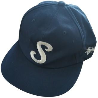 Stussy Navy Cotton Hats & pull on hats