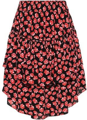 Ganni Floral crepe skirt