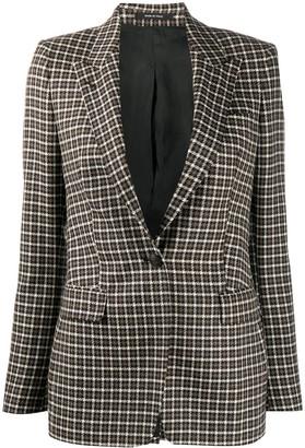 Tagliatore Check-Pattern Single-Breasted Blazer