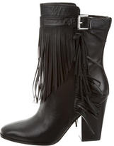 Sigerson Morrison Leather Fringe Ankle Boots w/ Tags