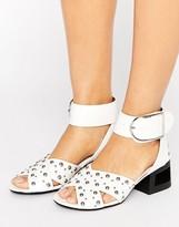 Truffle Collection Stud Kitten heel Sandal