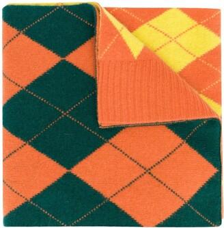 Pringle Reissued argyle Intarsia scarf