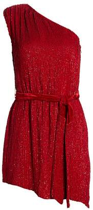 retrofete Ella One-Shouldered Sequin Dress