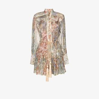Zimmermann Lucky Bound silk shirt dress