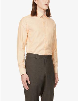 Eton Slim-fit cotton and linen-blend shirt