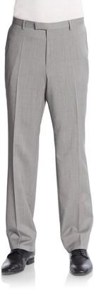 HUGO BOSS Sharp Plaid Virgin Wool Trousers