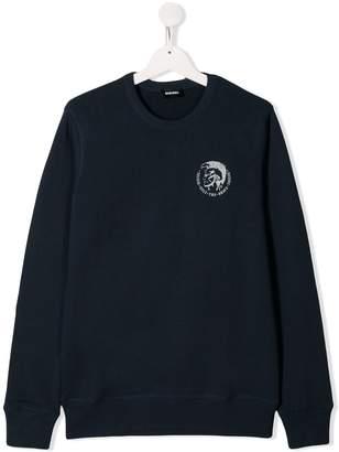 Diesel TEEN printed cotton sweater