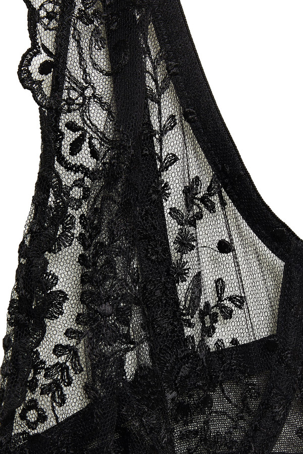 Thumbnail for your product : I.D. Sarrieri Embroidered Tulle Underwired Bra