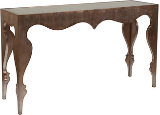 Artistica Van Cleef Console - Silver Leaf