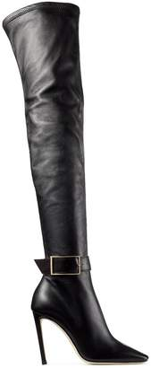 Jimmy Choo Takara 100 Leather Buckle Boots