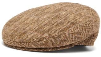 Isabel Marant Gabor Wool Herringbone Flat Cap - Womens - Beige