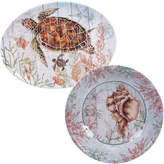 Certified International 2 Piece Sanibel Round Platter & Oval Platter