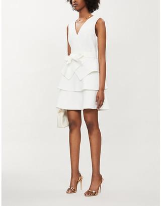 Ted Baker Reinah tiered stretch-twill mini dress