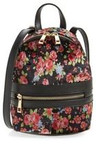 BP Mini Floral Velvet Convertible Backpack - Black