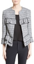 Helene Berman Women's Frill Tweed Jacket