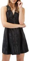 Topshop Twist Back Jacquard Dress