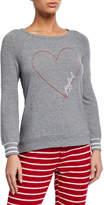 PJ Salvage Joyful Heart Long-Sleeve Lounge Shirt