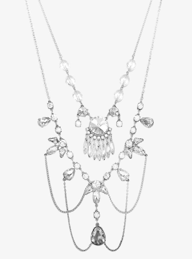 Torrid Gemstone Layered Statement Necklace