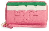 Tory Burch Women's Scallop Leather Smartphone Wallet - Pink