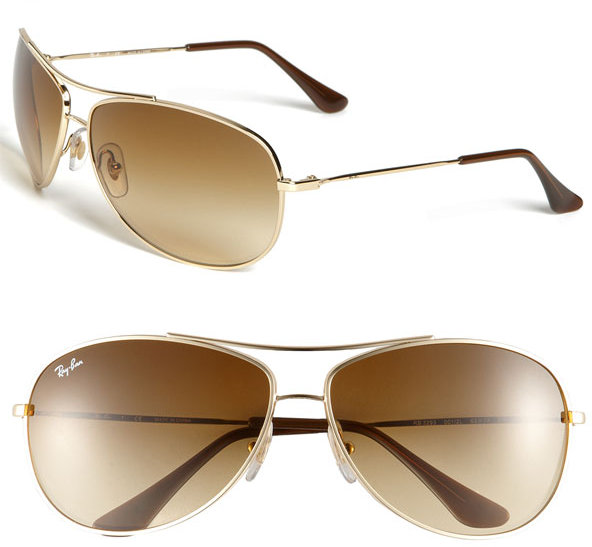 Ray-Ban 'Bubble Wrap' Metal Aviator Sunglasses