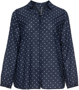 Via Appia Plus Size Polka dot blouse