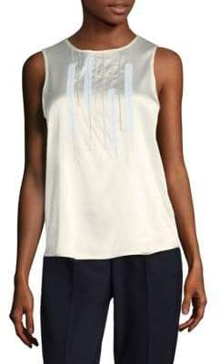 Peserico Pintuck Sleeveless Top