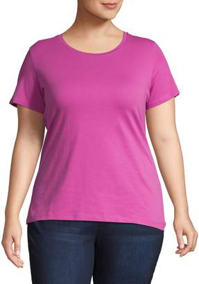 Lord & Taylor Plus Classic Roundneck Tee