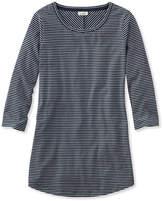 L.L. Bean Stripe Tunic Tee, Three-Quarter-Sleeve